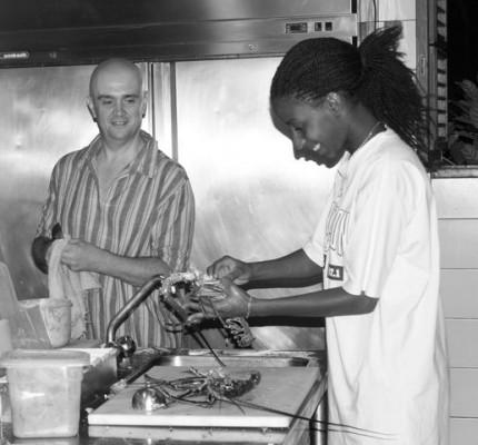 Les cuisiniers le l'hôtel***- restaurant Le Rayon Vert