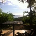 Terrasse privée avec vue sur mer, hôtel***-restaurant Le Rayon Vert