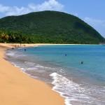 Plage de Grande Anse, Vacances sur l''île aux belles eaux, Deshaies, Guadeloupe