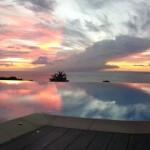 Vue magnifique, hôtel*** restaurant Le Rayon Vert, Deshaies, Guadeloupe